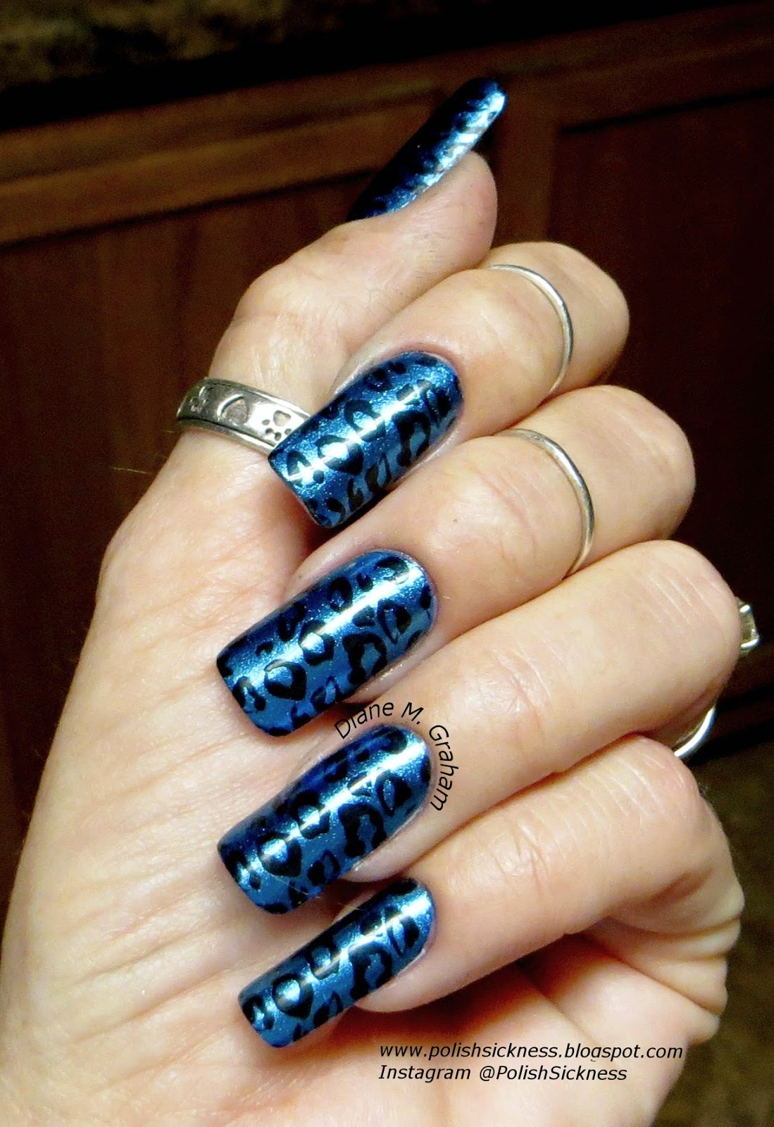Orly Sweet Peacock, Bundle Monster BM XL08 stamp