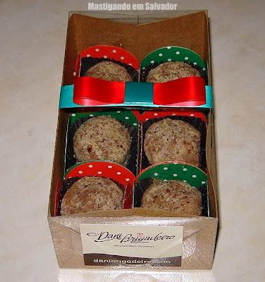 Dani Brigadeiro: Caixa com os Brigadeiros sabor Nutella