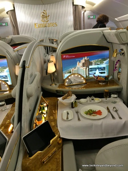 irst class seat on Emirates A380