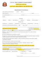 REQUERIMENTO DE MATRÍCULA