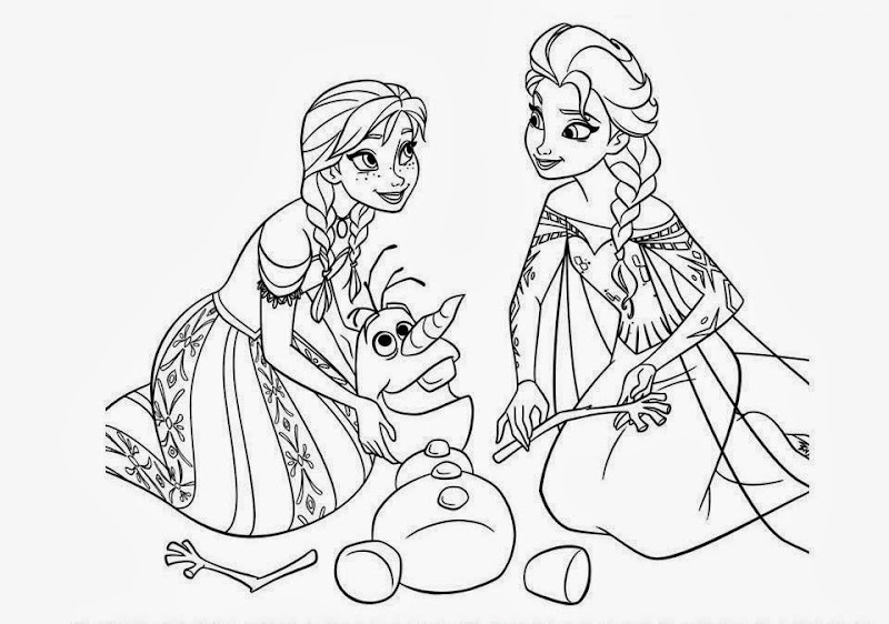 Disney Frozen Coloring Pictures For Kids