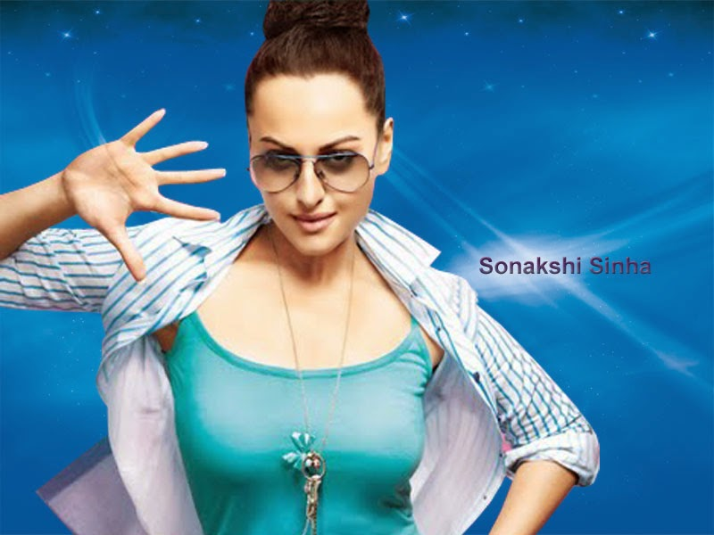 Bollywood Indian Actress Sonakshi Sinha Sexy in Black HD Images