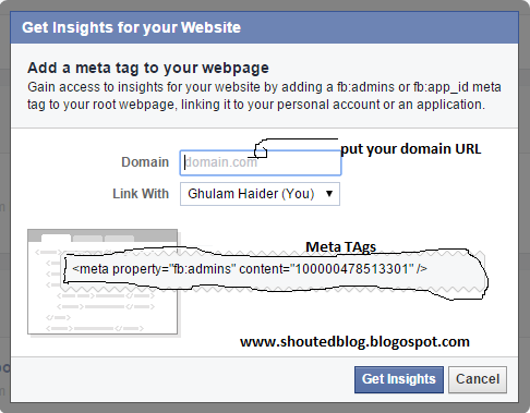 Track And Analyze Web Site Or Blog With Facebook Insight