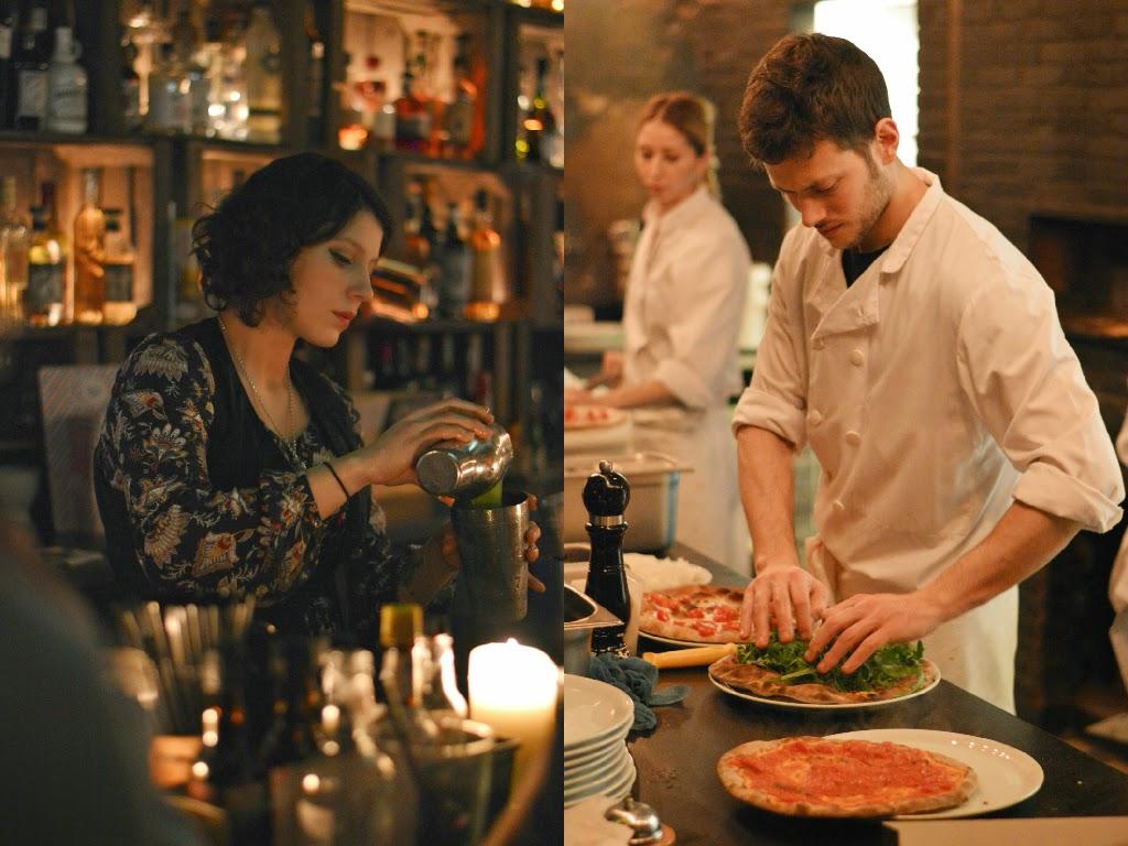 Grazie pizzeria and cocktails restaurant in Le Marais Paris