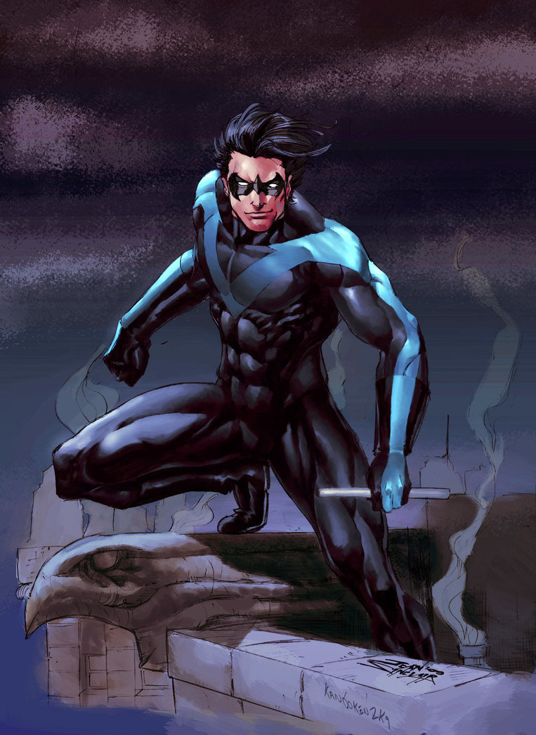 in a close hand hand combat the edge would go to nightwing due to more