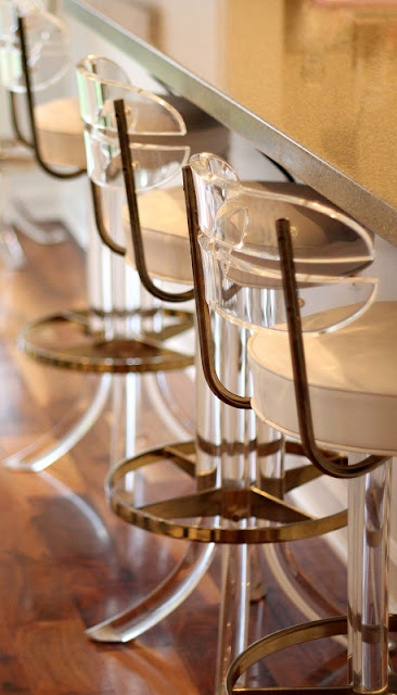 acrylic crystal gold bar counter stools