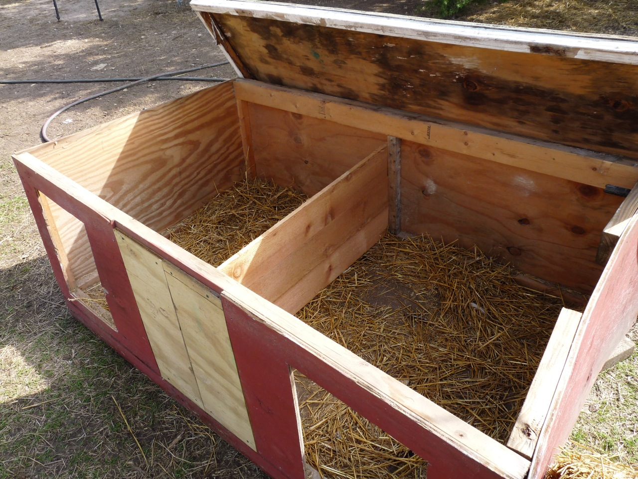 Farm natters project domestic goose nesting boxes for Building a duck house shelter