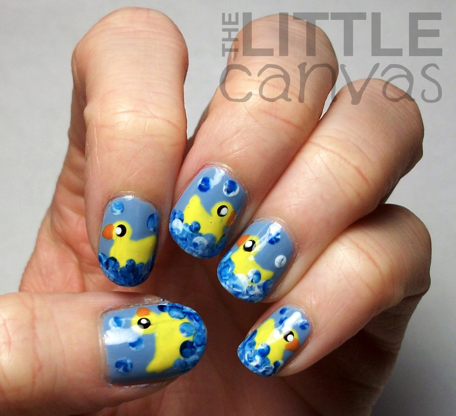 The Little Canvas: Rubber Ducky Nail Art Revisited!