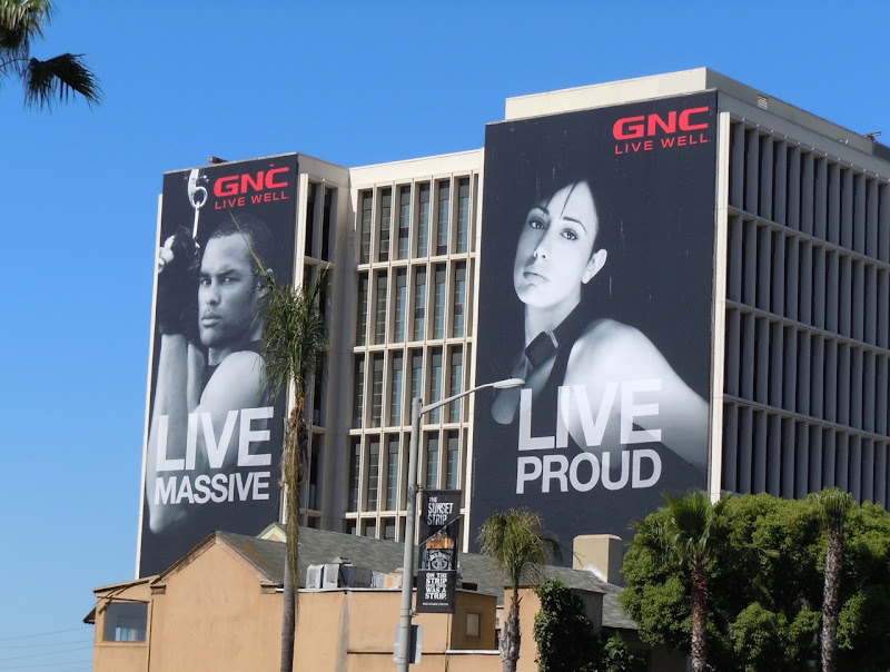 Live Massive Live Proud GNC billboads