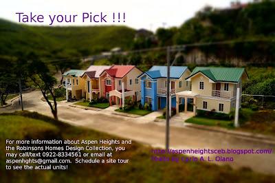 Aurora, Arielle, Fiona, Winnie. and Simba designs at Aspen Heights Subdivision, Consolacion, Cebu
