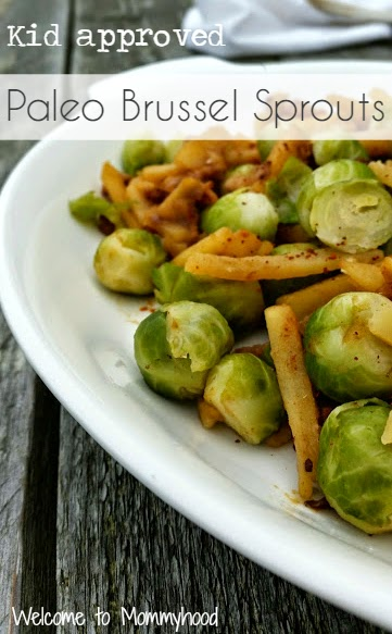 Healthy Thanksgiving recipes:  Stove top brussel sprouts 'casserole' {Welcome to Mommyhood} #paleo, #healthythanksgivingrecipes