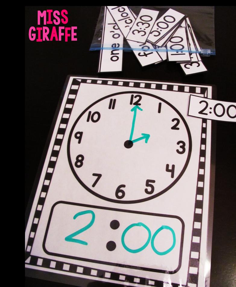 Miss Giraffeu0026#39;s Class: Telling Time in First Grade