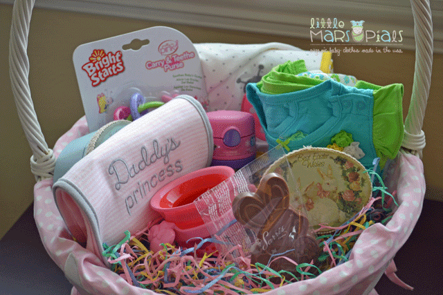 Creative ideas for easter baskets little marsupials my daughters easter basket filled with goodies for first time eating negle Choice Image