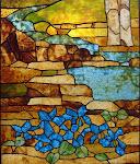 Tiffany vitráž - krajina