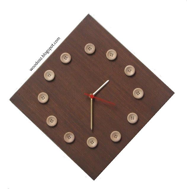 DIY+Wall+Clock+Wooden