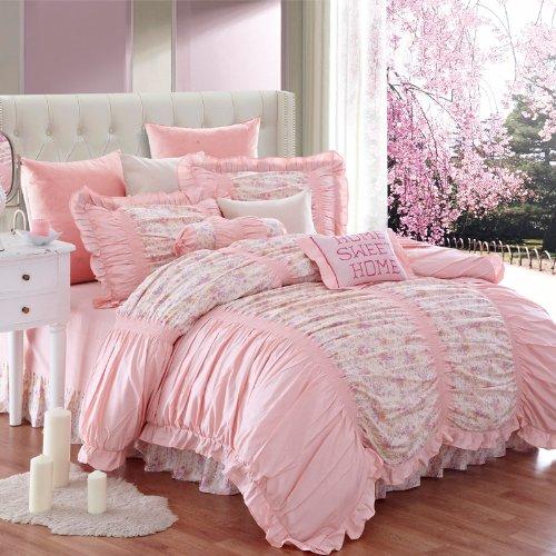Pale pink comforter bedding sets a soft place to fall soft pink bedding white soft pink floral comforter set mightylinksfo
