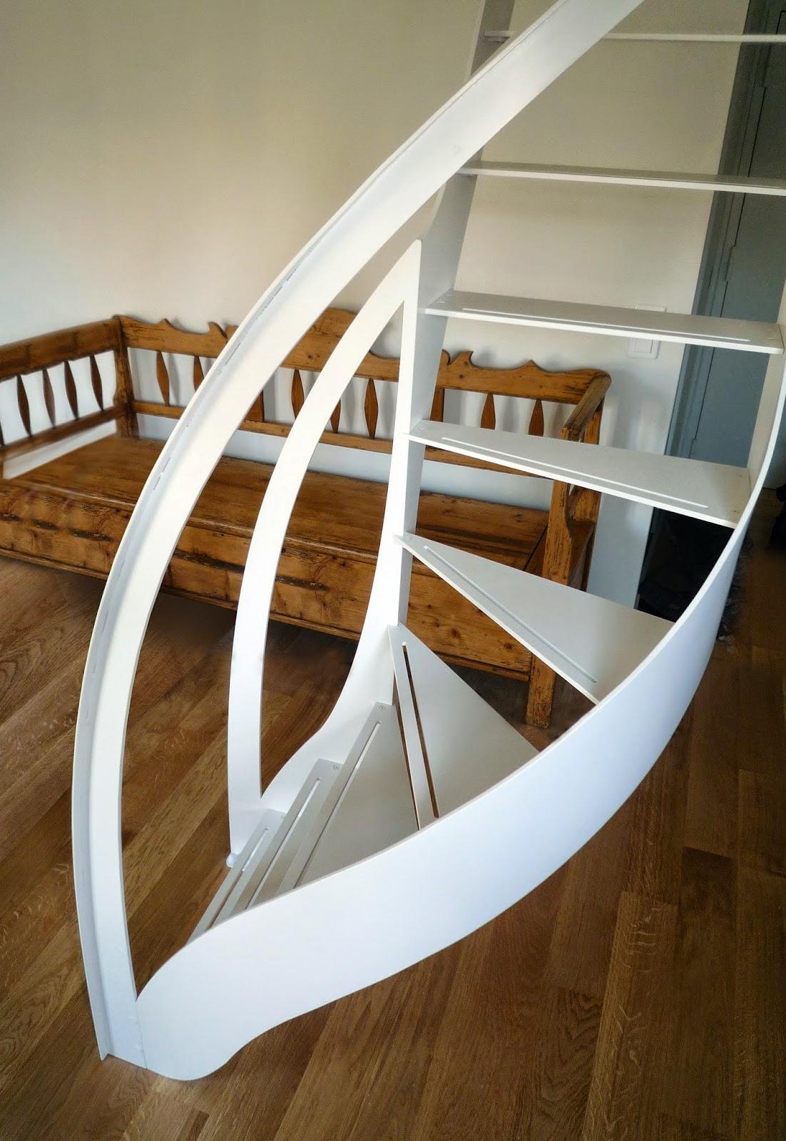 La stylique l 39 escalier design magnifie les courbes for Architecture courbe