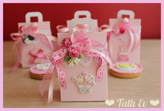 baby shower bebek doğumgünü hediyelik kurabiye süslü kutuları