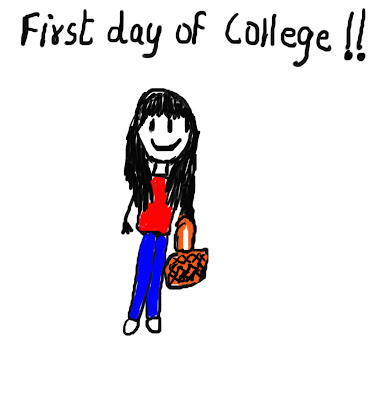 my first day college Some say that first day in college was a beautiful experience but for me it was like a complete life in itself my first day in college was an experience worth remembering because of three reasons: i met new friends, saw a new environment and knew new teachers.