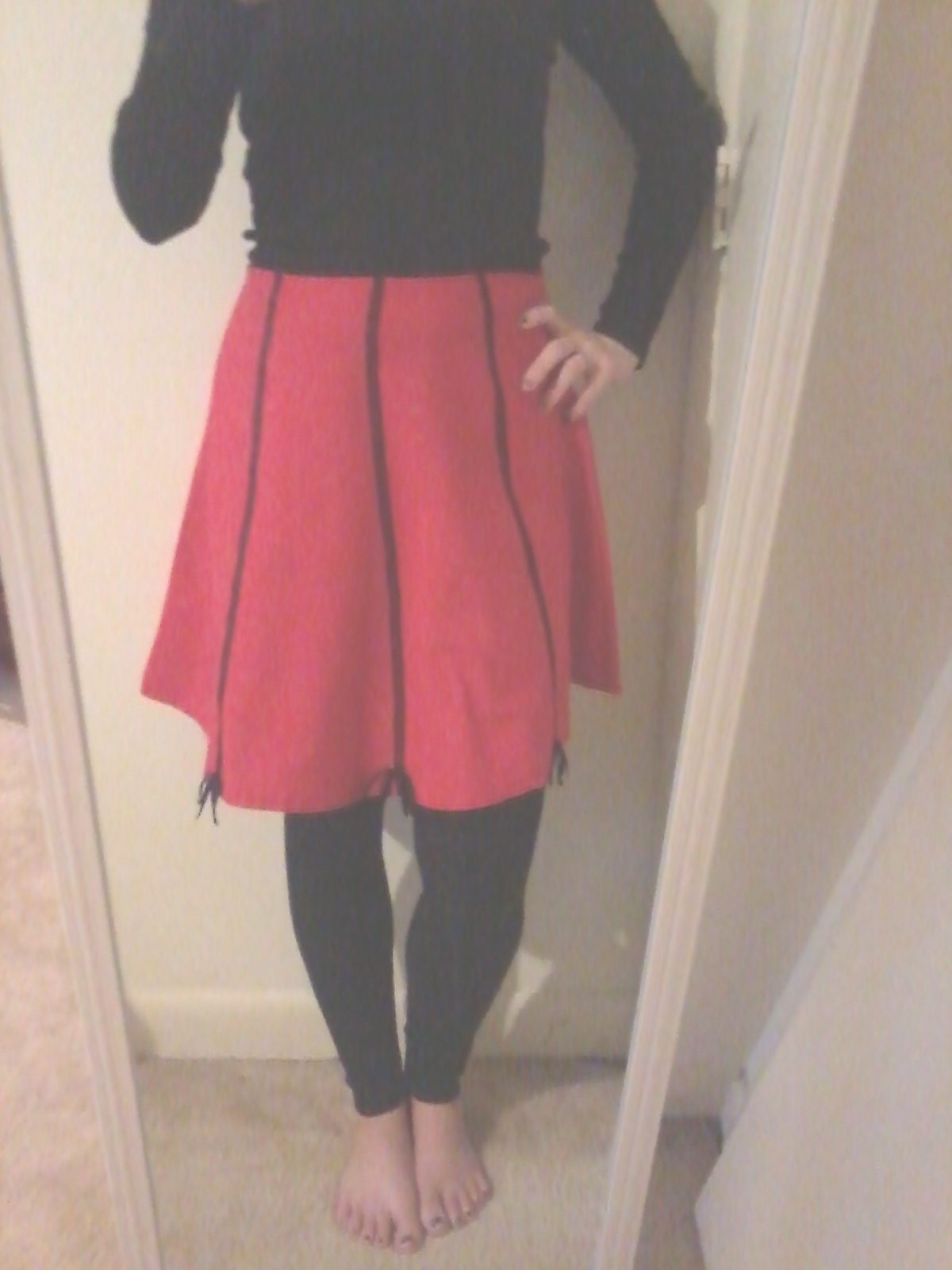 belindabilly diy upcycling plain a line skirt to