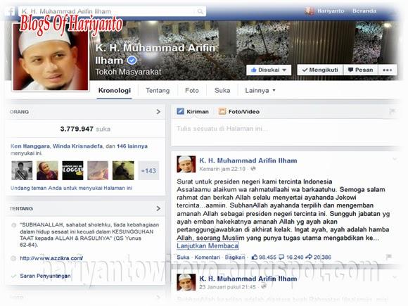 Surat Terbuka KH Muhammad Arifin Ilham Untuk Presiden Jokowi