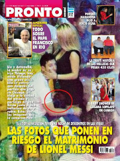 Noticias falsas, fotos de Messi con stripper
