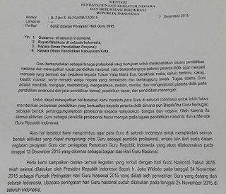 Surat Edaran Menpan RB No B/3903/M.PANRB/12/2015