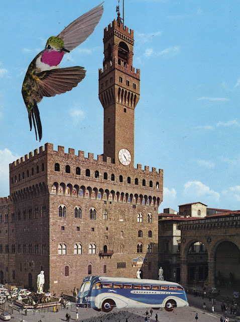 Altered photos in Florence Italy tour guide