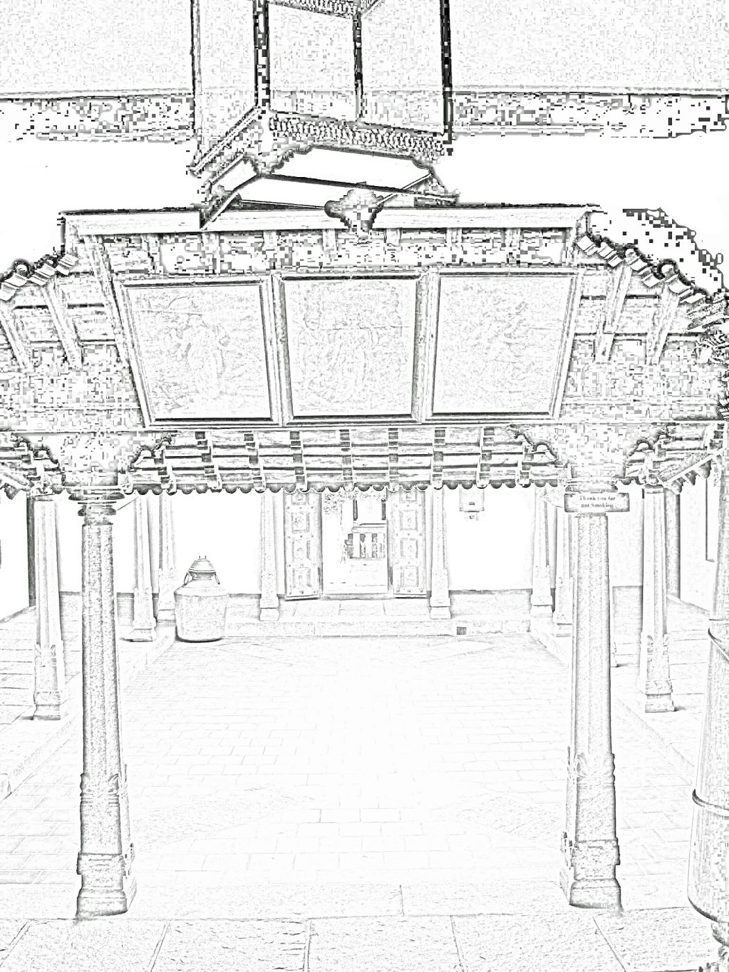 stock pictures  sketches of traditional indian houses