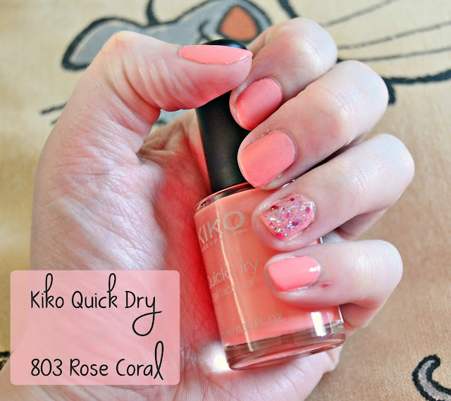 Kiko Quick Dry 803 Rose Coral Review