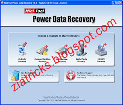 minitool power recovery 7.5 key