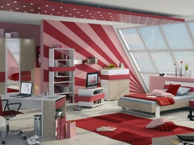 Teenage Girl Modern Bedroom Design