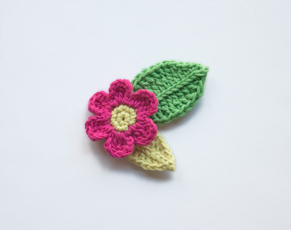 Free Crochet Patterns Flowers Leaves : One&Two Company: Flower & Leafs FREE Applique Crochet Pattern