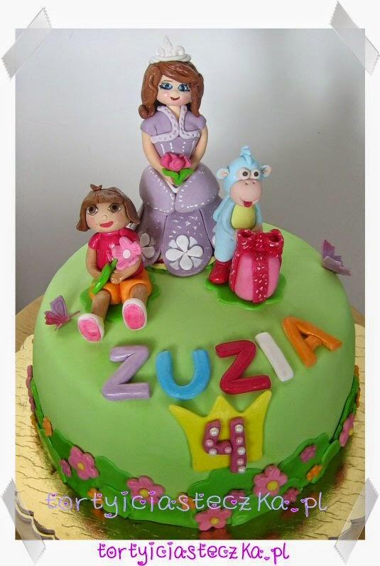 Tort z Ksieżniczka Zosią Dora i Butkiem