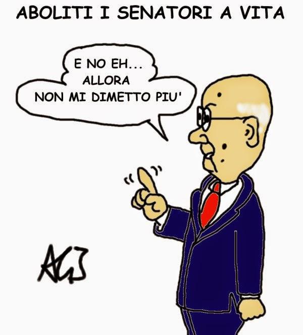 Napolitano, senato, senatori a vita, satira