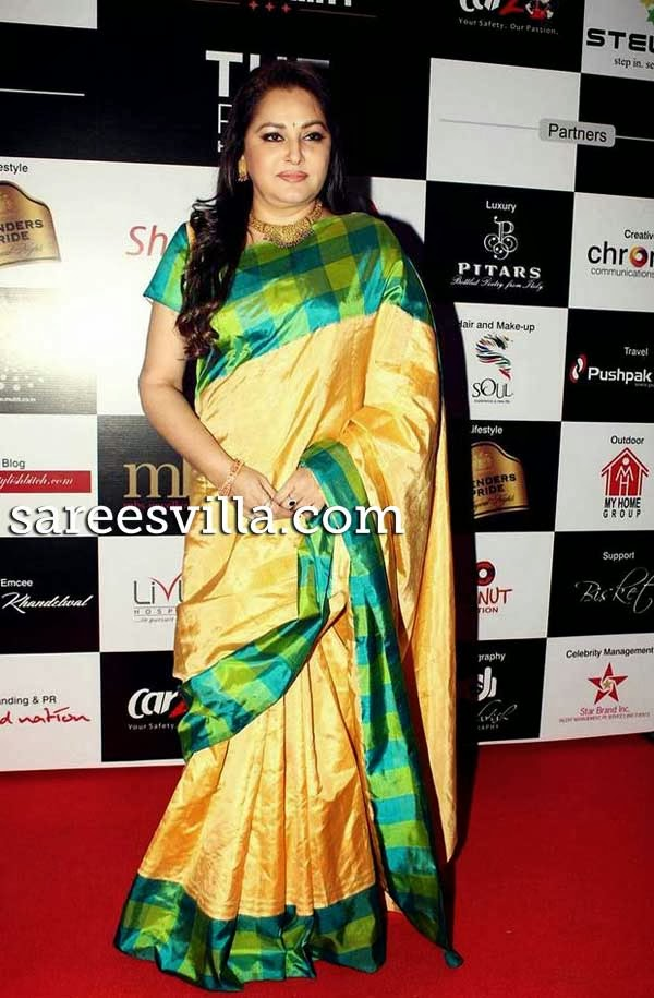 Jaya Prada in Yellow Silk Saree