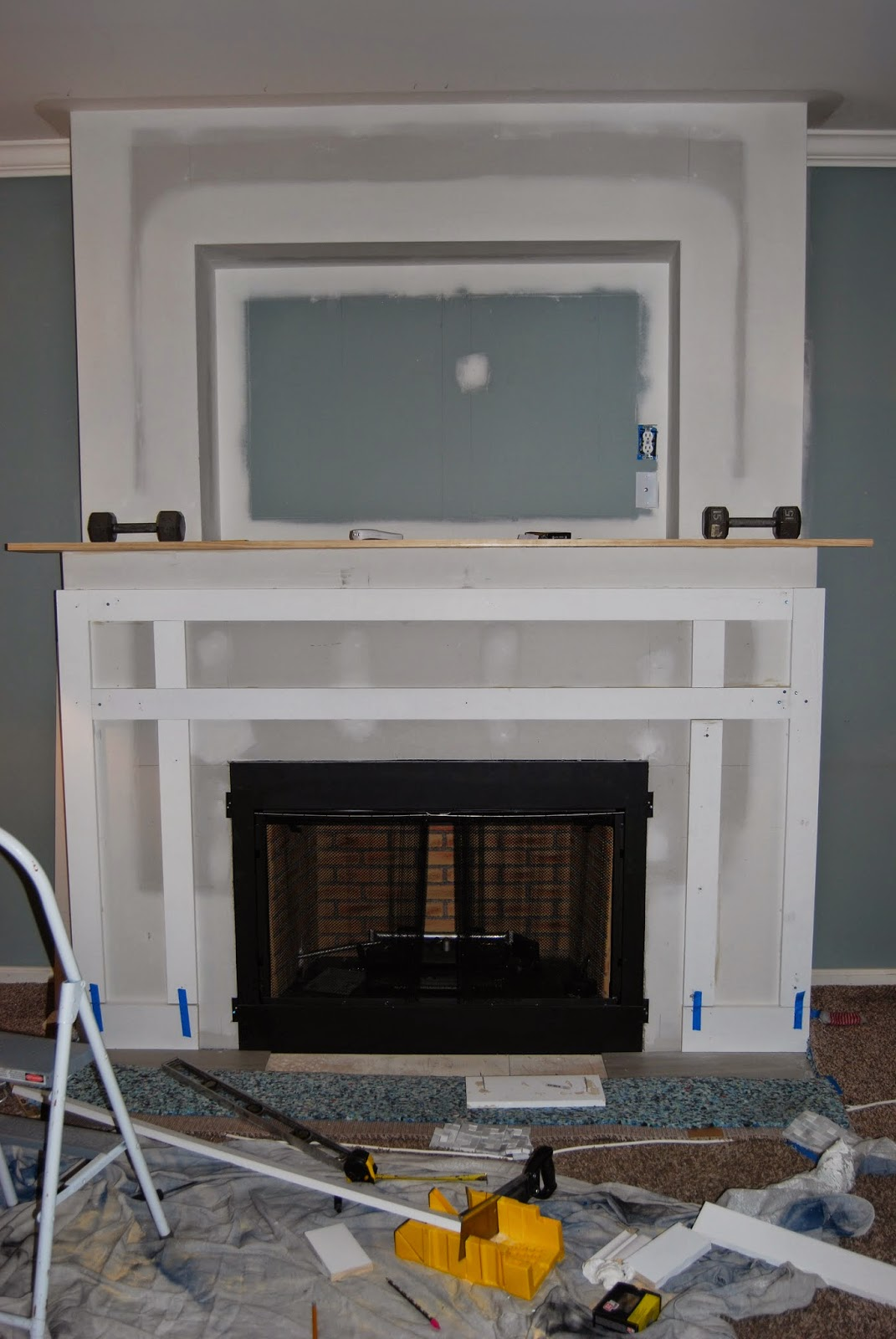 cure 4 decor fireplace surround the stockings were hung