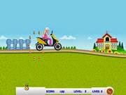 Barbie vội vàng đi học, game dua xe