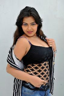 Priyanka Tiwari Spicy Sleeveless Black Top Spicy Shorts Naughty Pictureshoot
