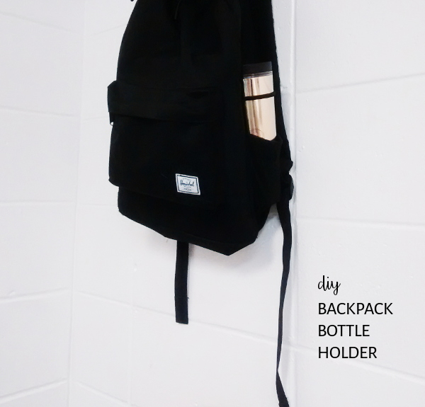 diy backpack bottle holder