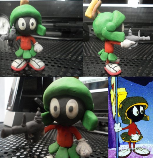 Marvin The Martian Clay Model por FierceTheBandit