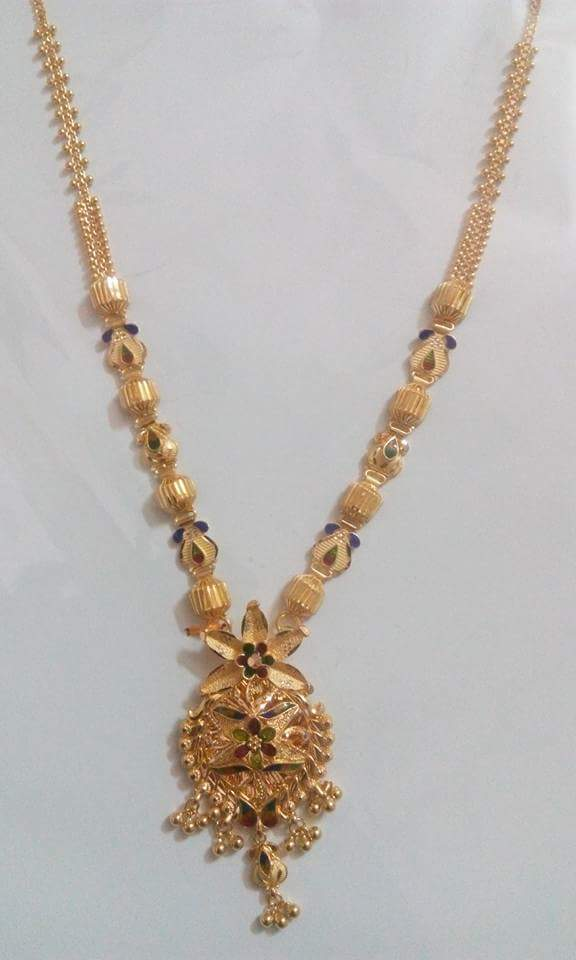 one short model necklace jewellery look gram traditional online plated jewelsmart gold design peacock