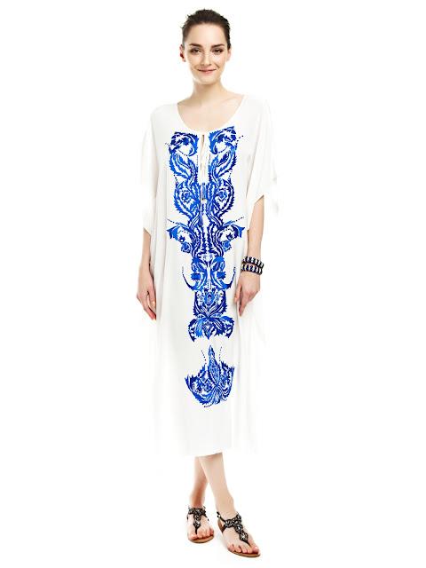 beyaz elbise, bol kesim elbise, çiçekli elbise, yazlık elbise, desenli elbise, tatil elbisesi rahat elbise