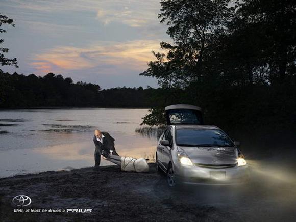 Toyota Prius controversial print ad