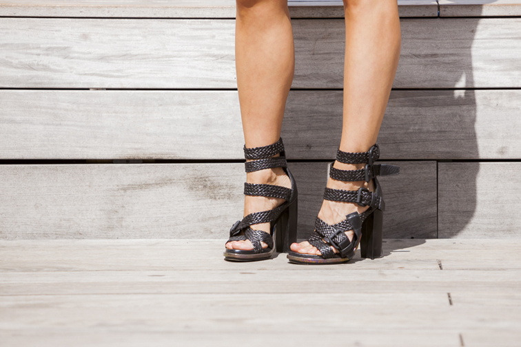 Alexander Wang Braided Petra Sandals