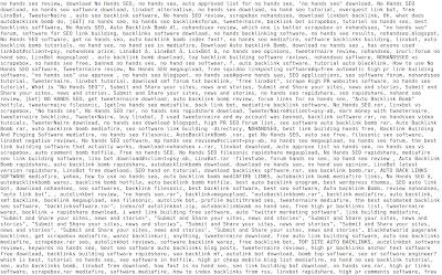 Beispiel für Keyword-Stuffing