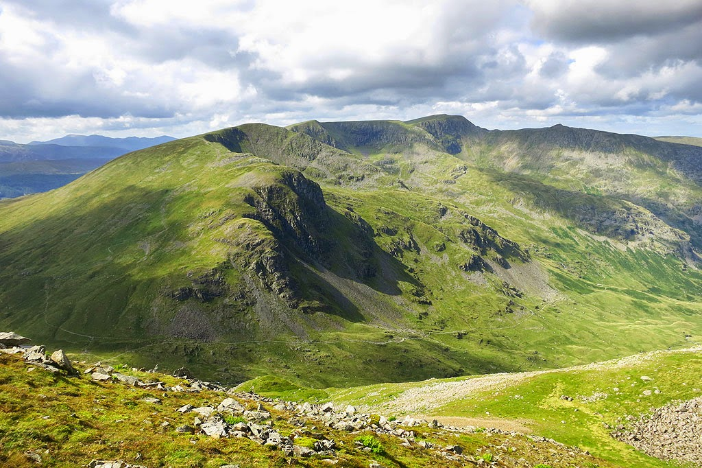 Another superb view of Helvellyn and striding edge