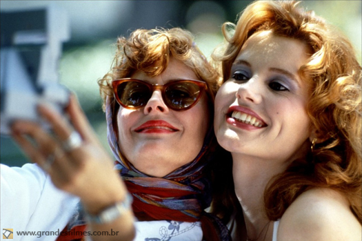 Susan Sarandon e Geena Davies em Thelma & Louise