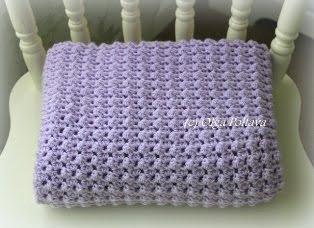 Easy Baby Blanket Crochet Pattern, $2.25