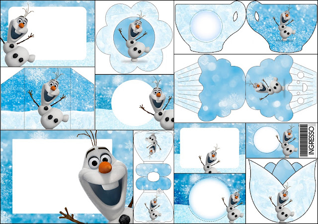 Olaf: Free Printable Invitations.